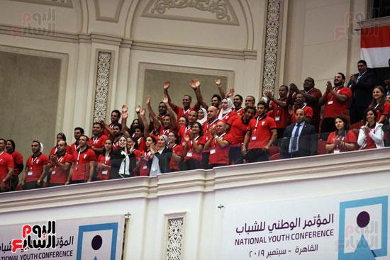 الرئيس السيسى خلال الاحتفاء بأبطال مصر فى دورة الألعاب الأفريقية (4)