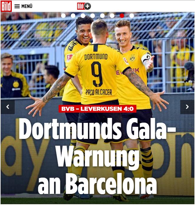 دورتموند يتألق في الدوري الألماني