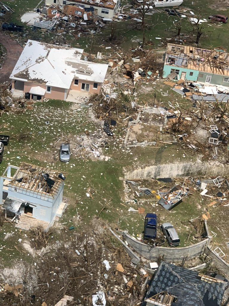 أثار كارثية فى الباهاما