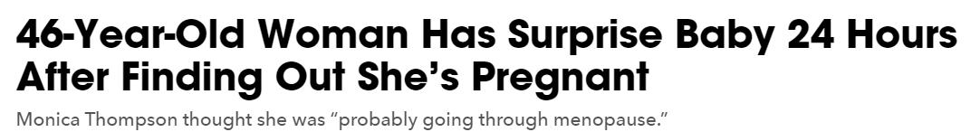 امراة 47 عاما تكتشف انها حامل