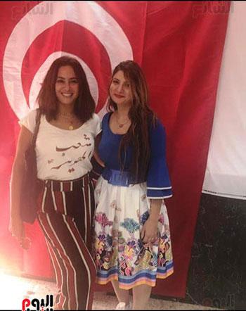 هند-صبري-فى-السفارة-التونسية-بالقاهرة