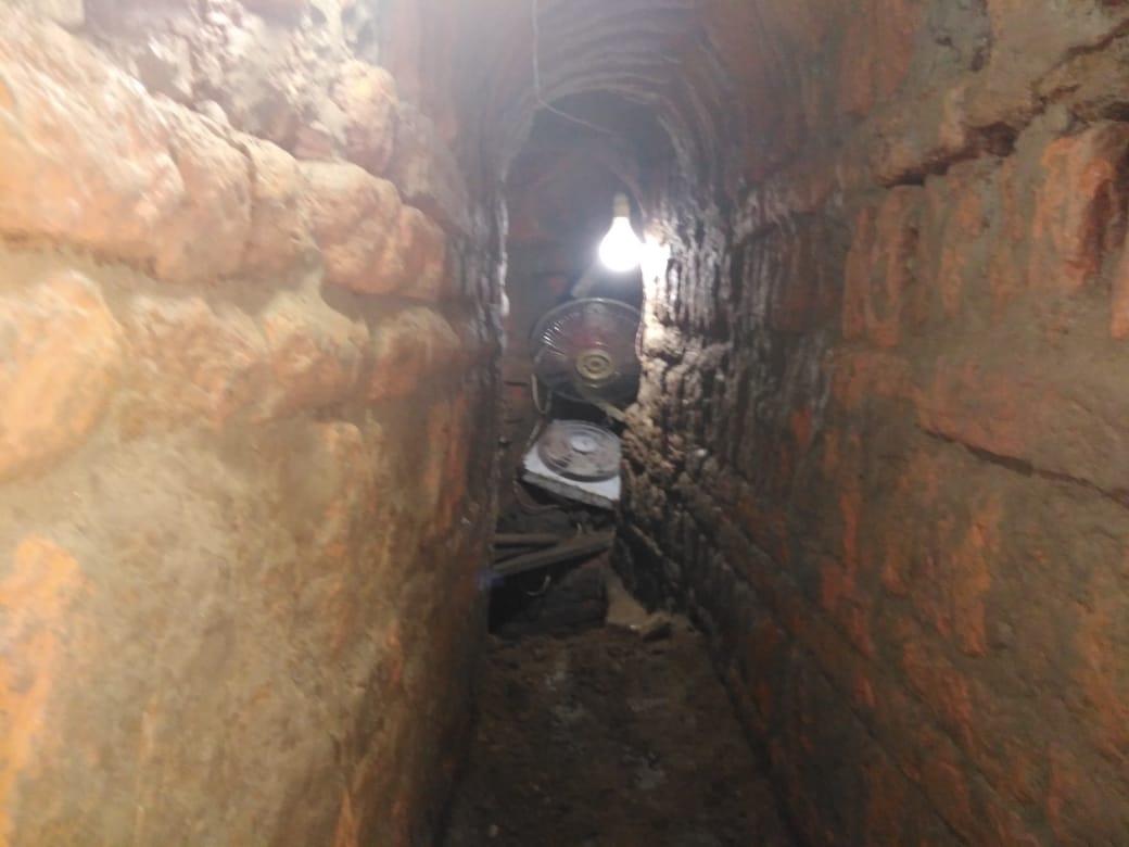 المعبد البطلمى المعثور عليه أثناء التنقيب عن الآثار (2)