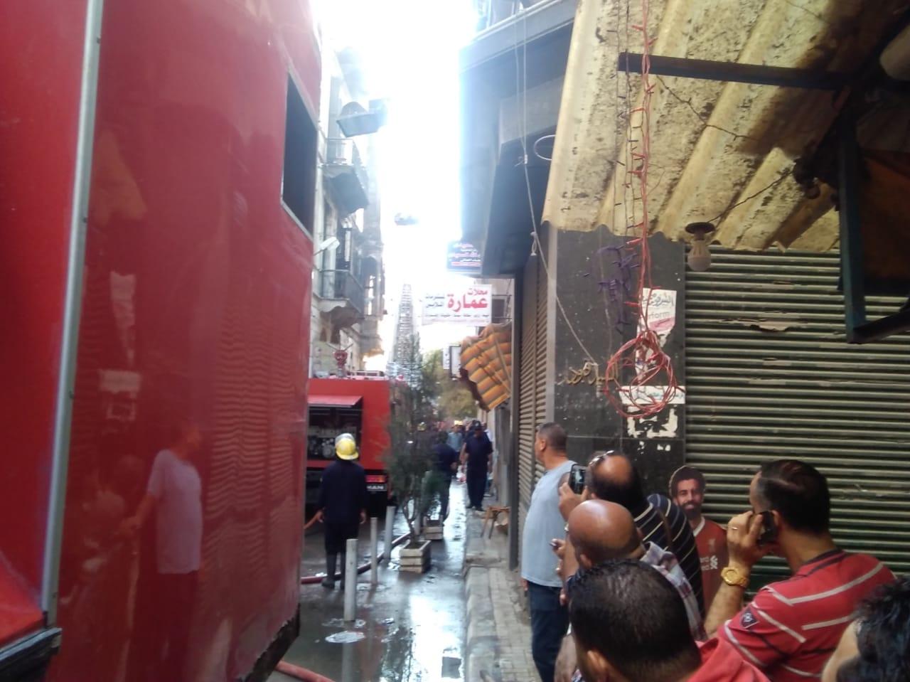 حريق مصنع أحذية فى الإسكندرية (1)