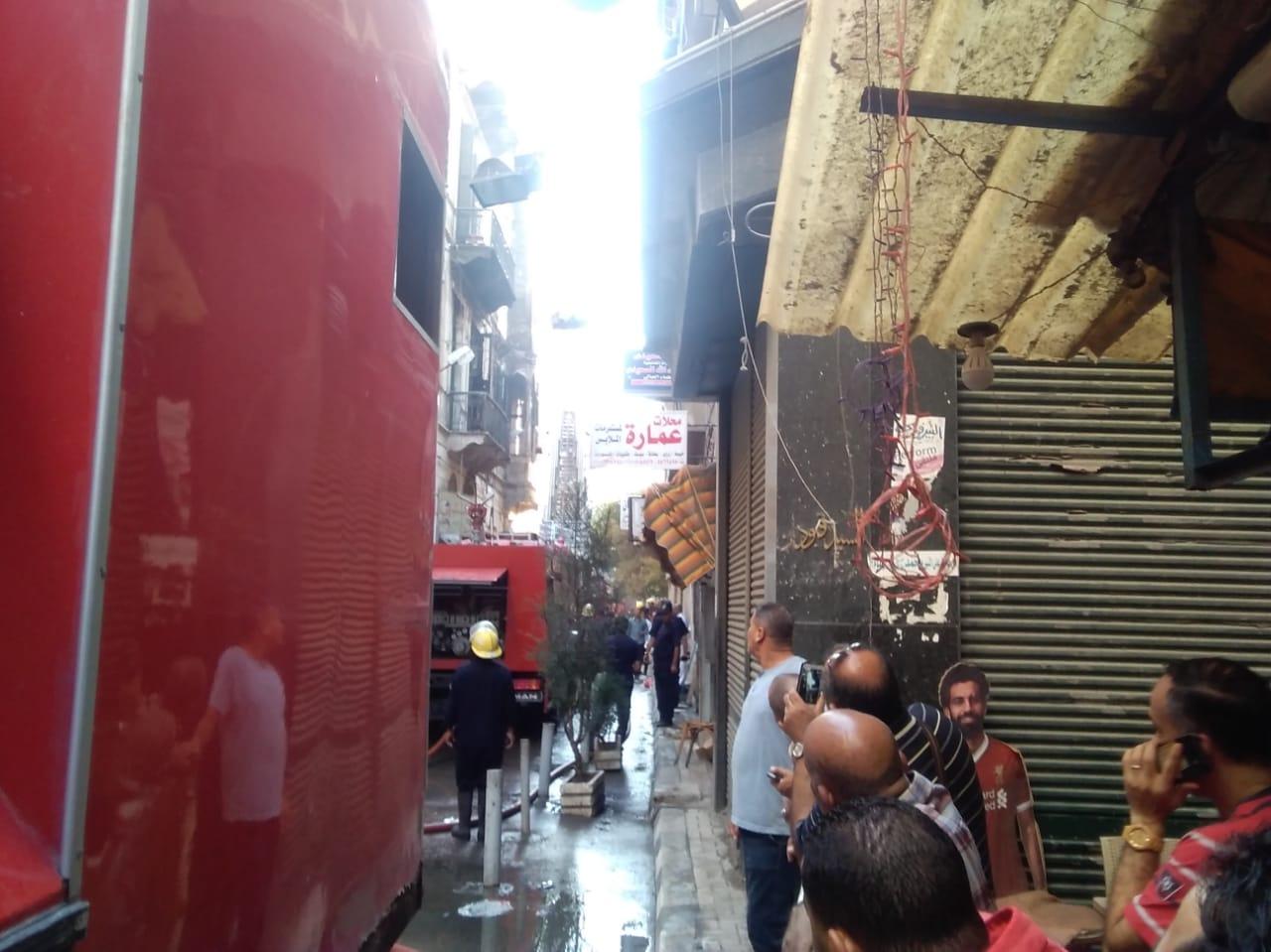 حريق مصنع أحذية فى الإسكندرية (7)