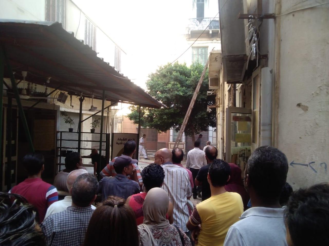 حريق مصنع أحذية فى الإسكندرية (3)