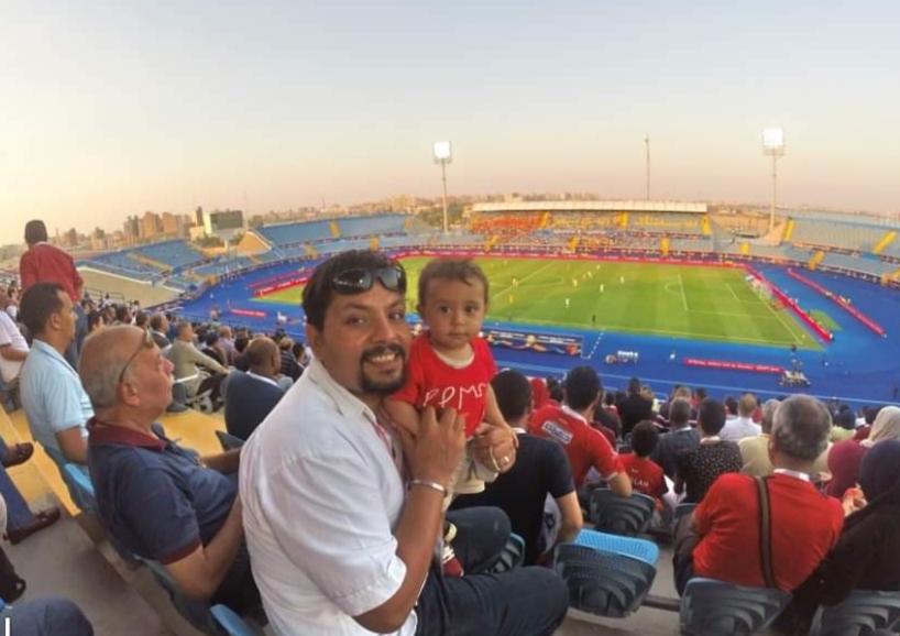 الجماهير المصرية سعيدة باستاد السويس