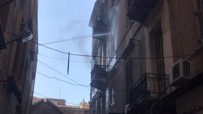 حريق مصنع أحذية فى الإسكندرية (2)