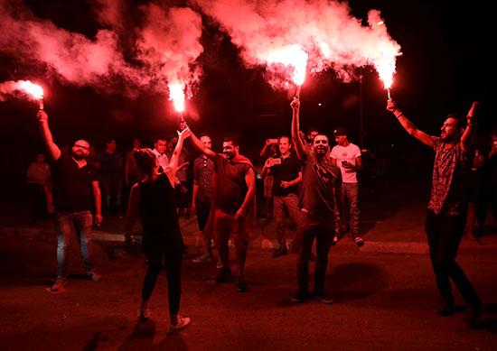 أنصار القروى يحتفلون بالشماريخ