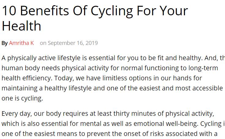 فوائد ركوب الدراجات