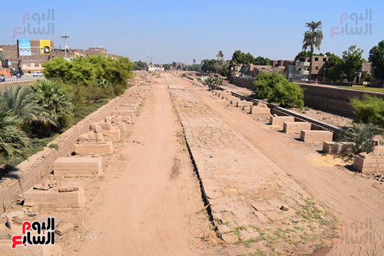 طريق-الكباش-يشرف-عليه-رجال-الآثار-والهيئة-الهندسية-للقوات-المسلحة