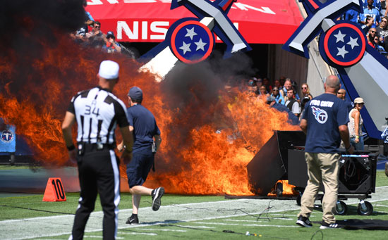 حريق-جهاز-فى-الملعب