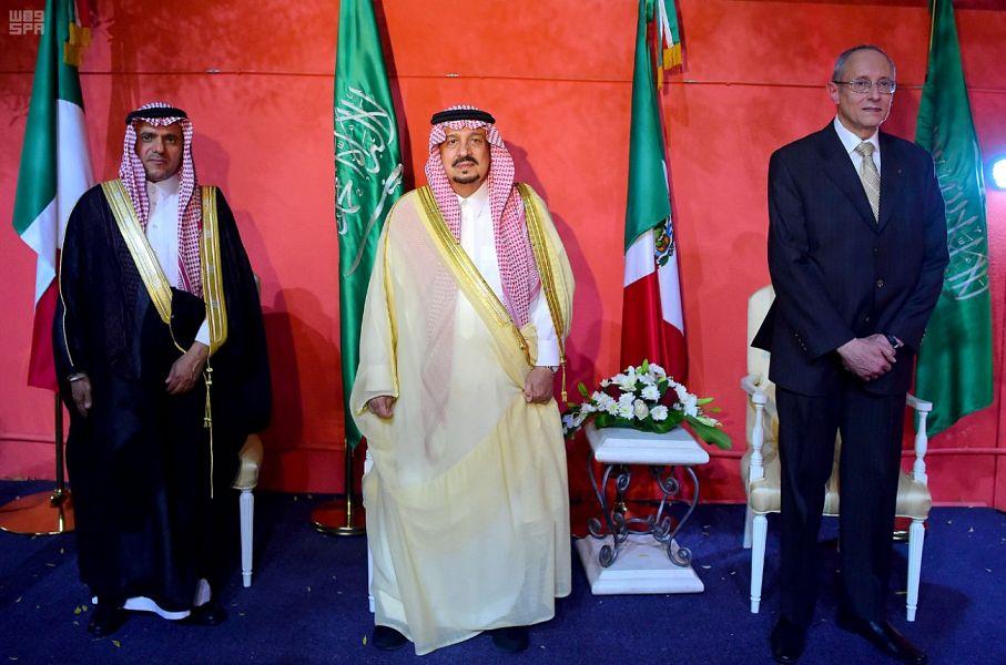 أمير الرياض مع السفير المكسيكى