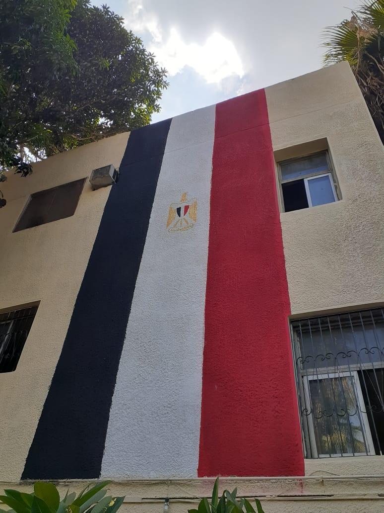 مدارس الجيزة تتزين بالأعلام استعدادا للعام الدراسي الجديد (5)