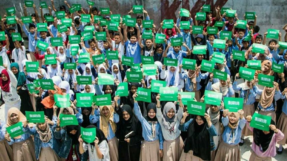 أعلام السعودية تتصدر المشهد بمدارس الفلبين