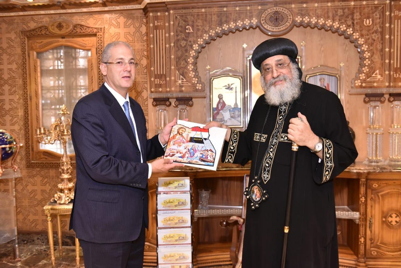قداسة البابا يستقبل سفير مصر بكوت ديفوار (2)