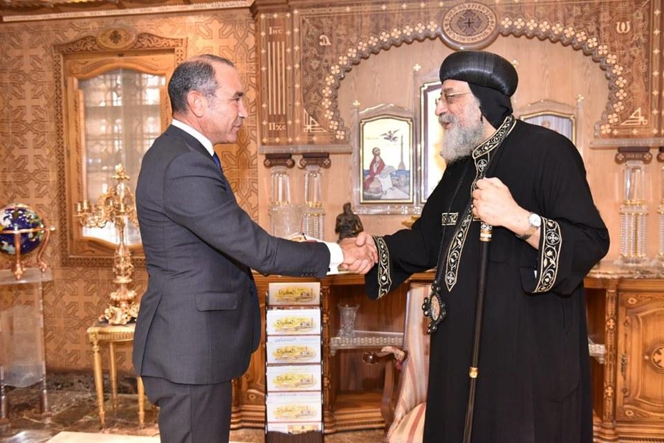 قداسة البابا يستقبل سفير مصر بألمانيا (3)