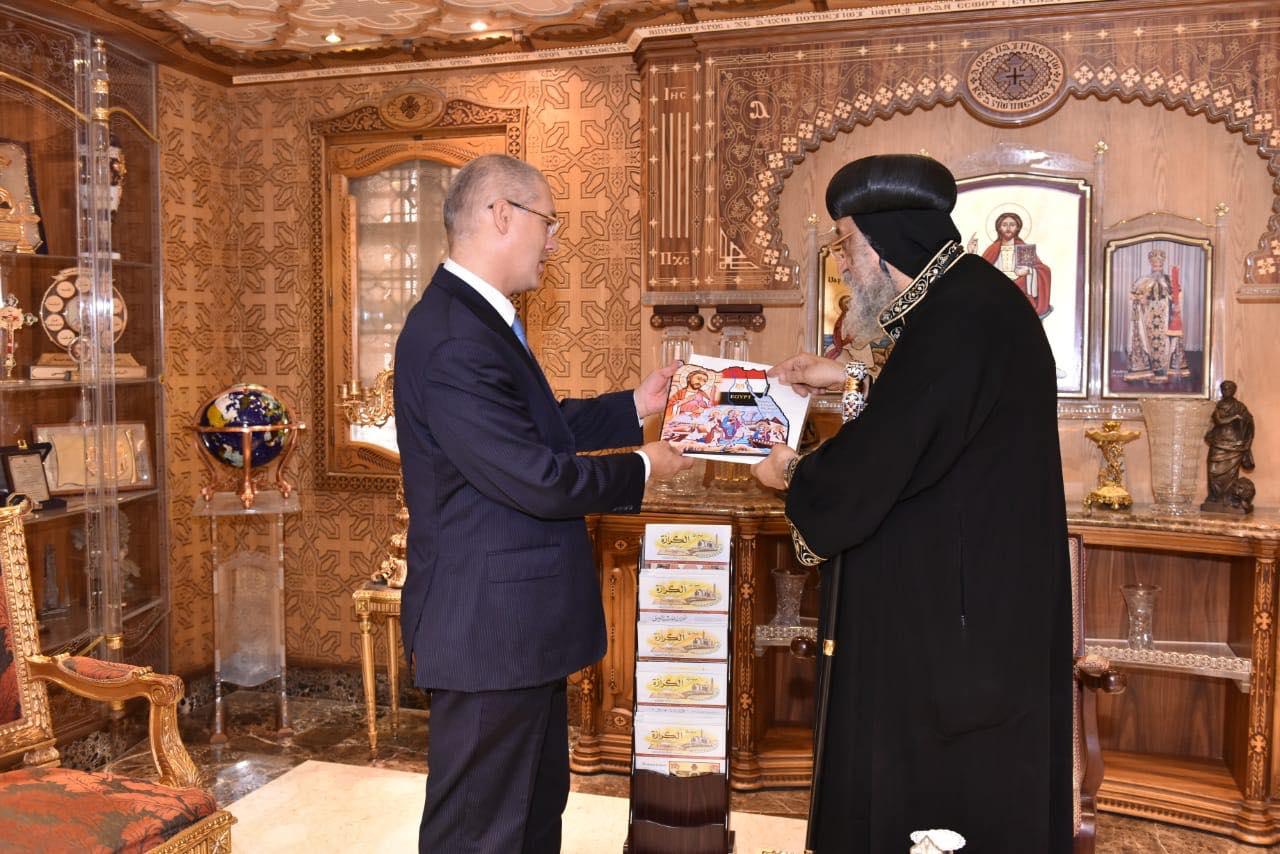 قداسة البابا يستقبل سفير مصر بكوت ديفوار (3)