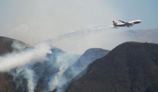 استدعاء الطائرات للسيطرة على النيران