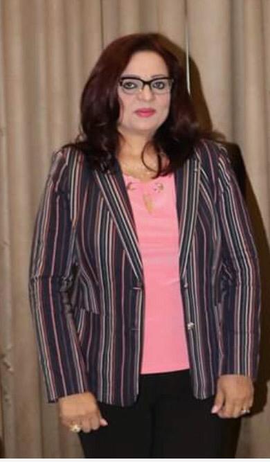حنان شلبي عضو المنظمة والمتحدث الإعلامي باسمها وصاحبة برنامج امريكا بالمصري من نيويورك