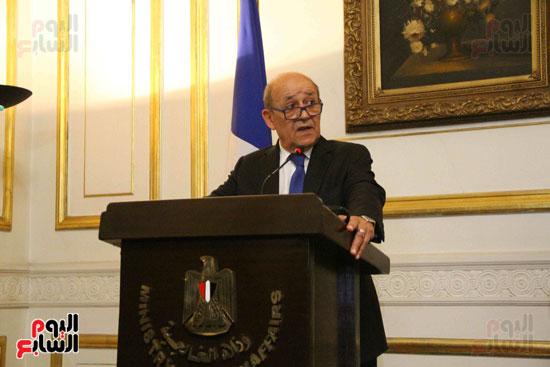 سامح شكرى ووزير الخارجيه الفرنسى (5)