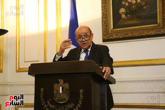 سامح شكرى ووزير الخارجيه الفرنسى (6)