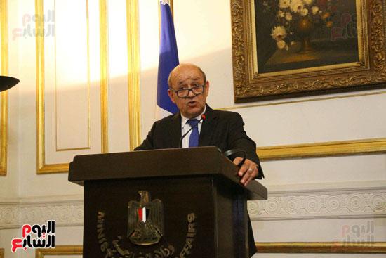 سامح شكرى ووزير الخارجيه الفرنسى (4)