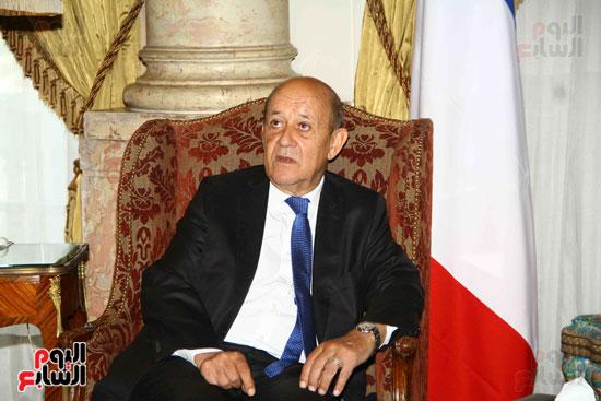 وزير الخارجية سامح شكرى يستقبل نظيره الفرنسى (6)