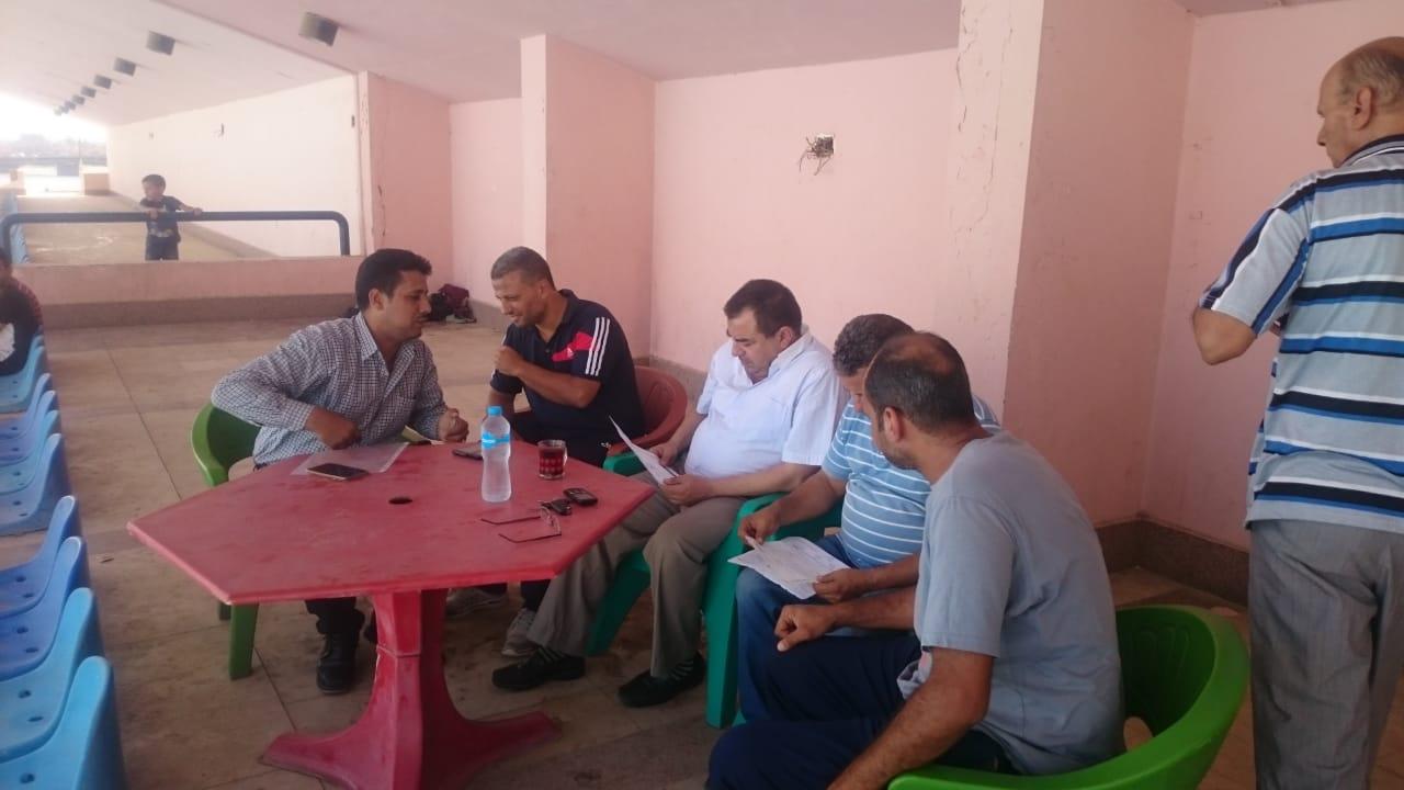 لجنة مديرية الشباب تتابع حمام مركز شباب مدينة سمسطا