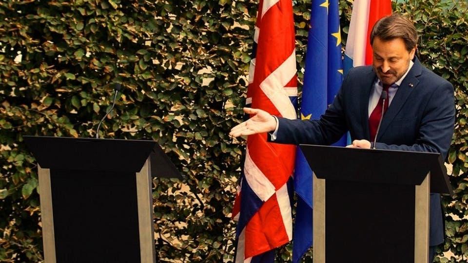 مؤتمر بوريس جونسون مع نظيره رئيس وزراء لوكسمبورج