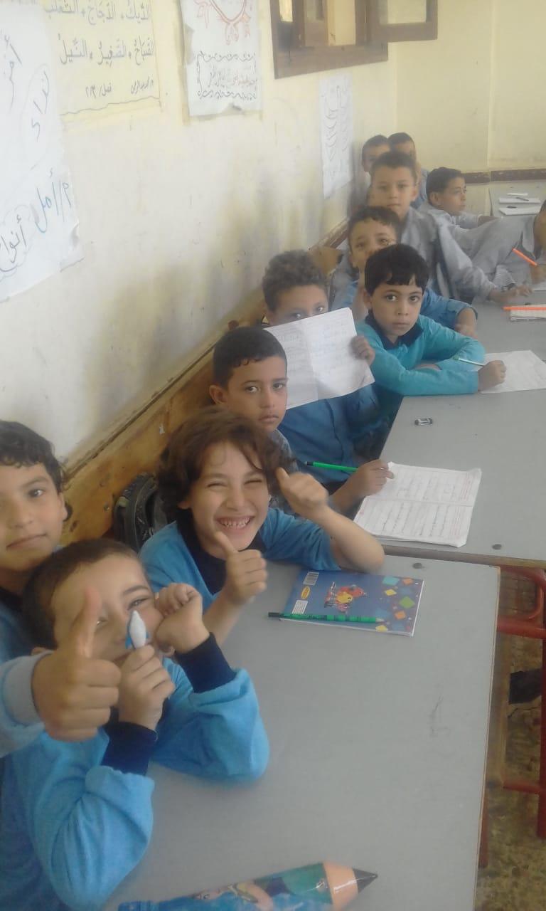 فرحة التلاميذ بالعودة إلى المدرسة