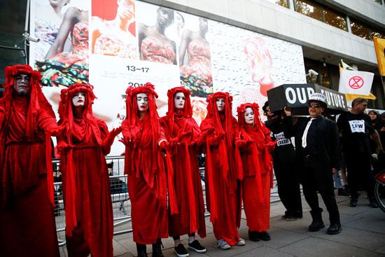 احتجاجات فى لندن