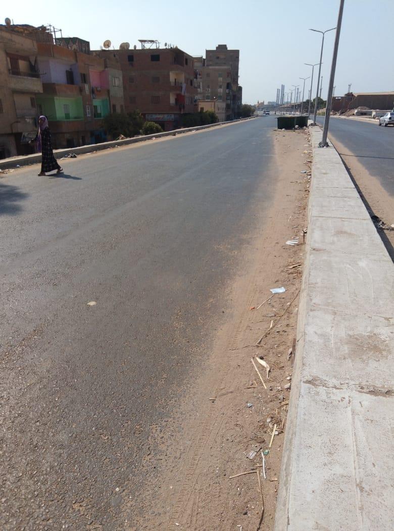 طريق قرية طناش بالوراق يحتاج لـمطب لإنقاذ الأهالى (1)
