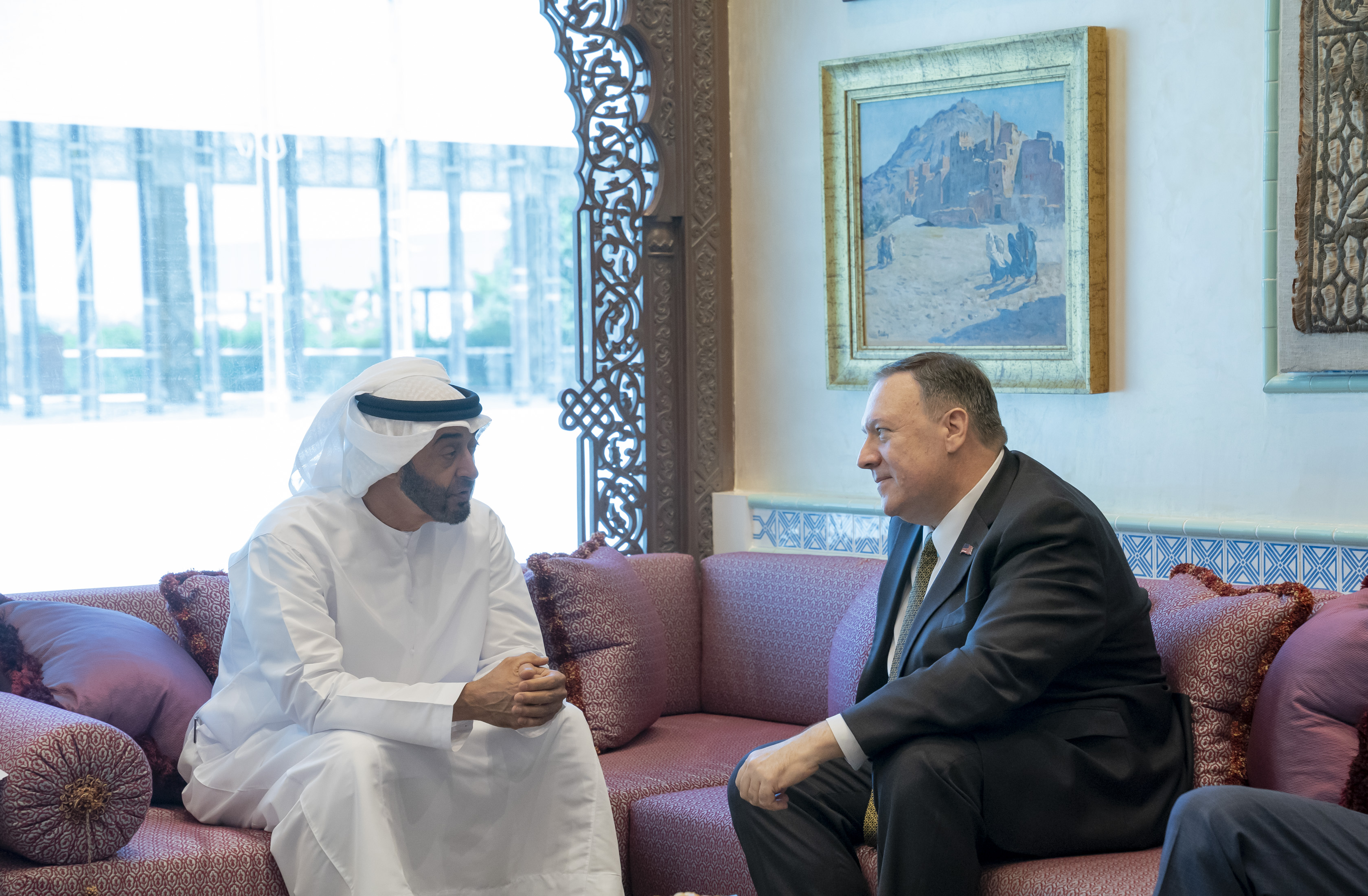وزير الخارجية الأمريكى ومحمد بن زايد