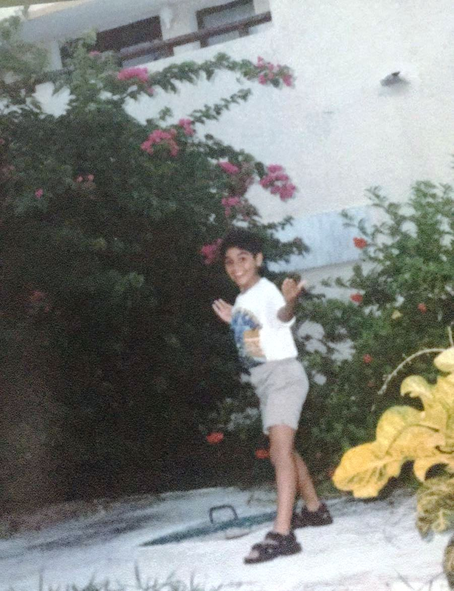 مينا مسعود فى طفولته