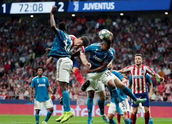 مواجهة-اتليتكو-مدريد-ضد-يوفنتوس-اتسمت-بالقوة