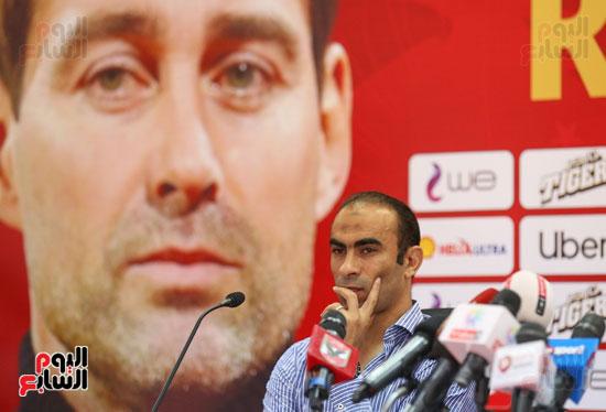 سيد عبد الحفيظ فى المؤتمر الصحفي