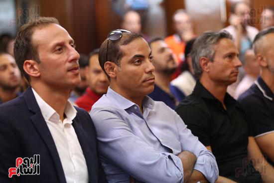 خالد بيبو وأمير توفيق فى المؤتمر الصحفي