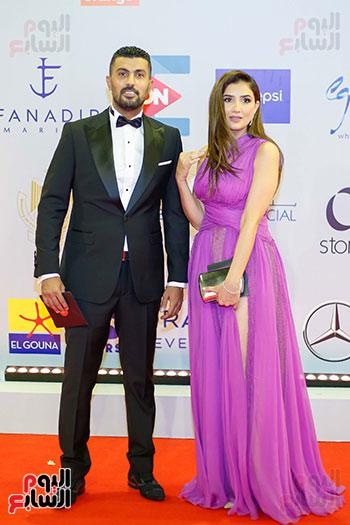 المخرج محمد سامى وزوجته الفنانة مى عمر