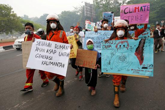 تظاهرات فى إندونيسيا