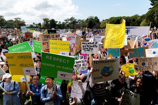 احتجاجات فى أستراليا