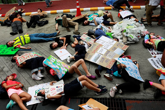 احتجاجات فى تايلاند
