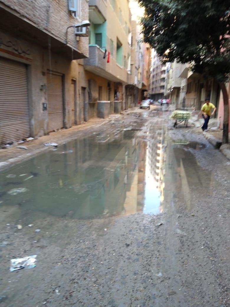 مياه الصرف بشارع وابور عصمت