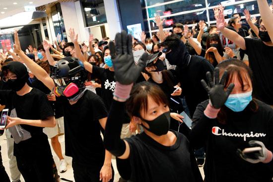 الاحتجاجات فى هونج كونج