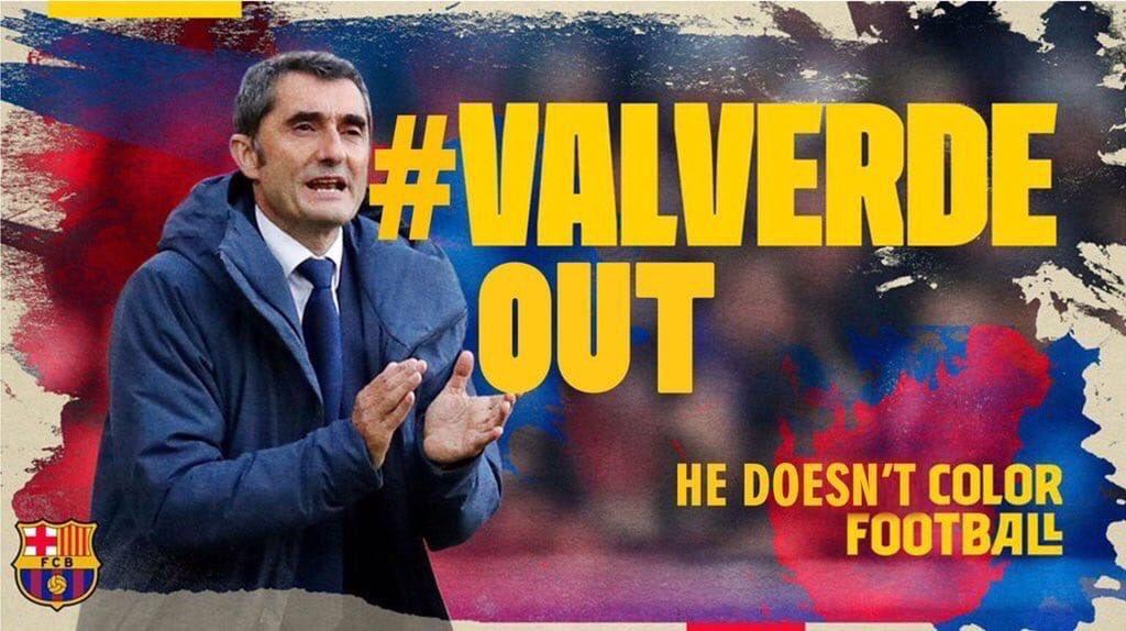 جماهير برشلونة تطالب برحيل فالفيردي