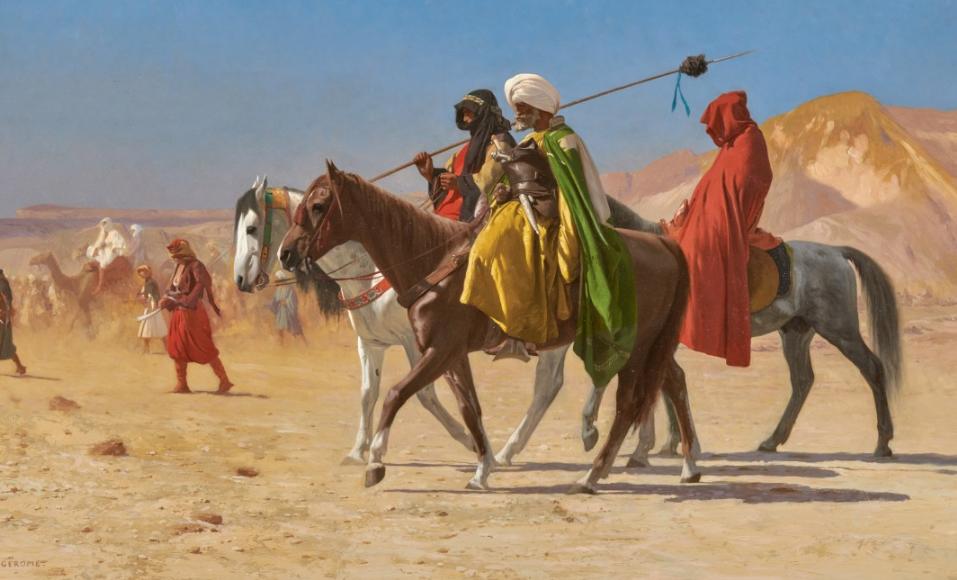 لوحة الفرسان فى الصحراء