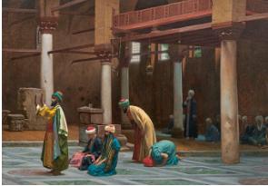لوحة الصلاة فى المسجد