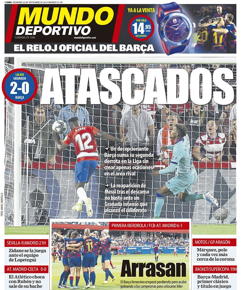 غلاف صحيفة موندو ديبورتيفو