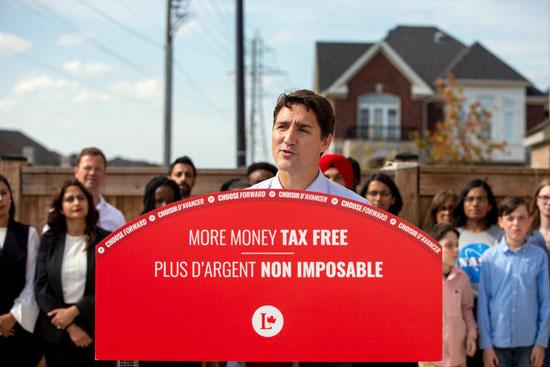 رئيس وزراء كندا يخاطب أنصاره