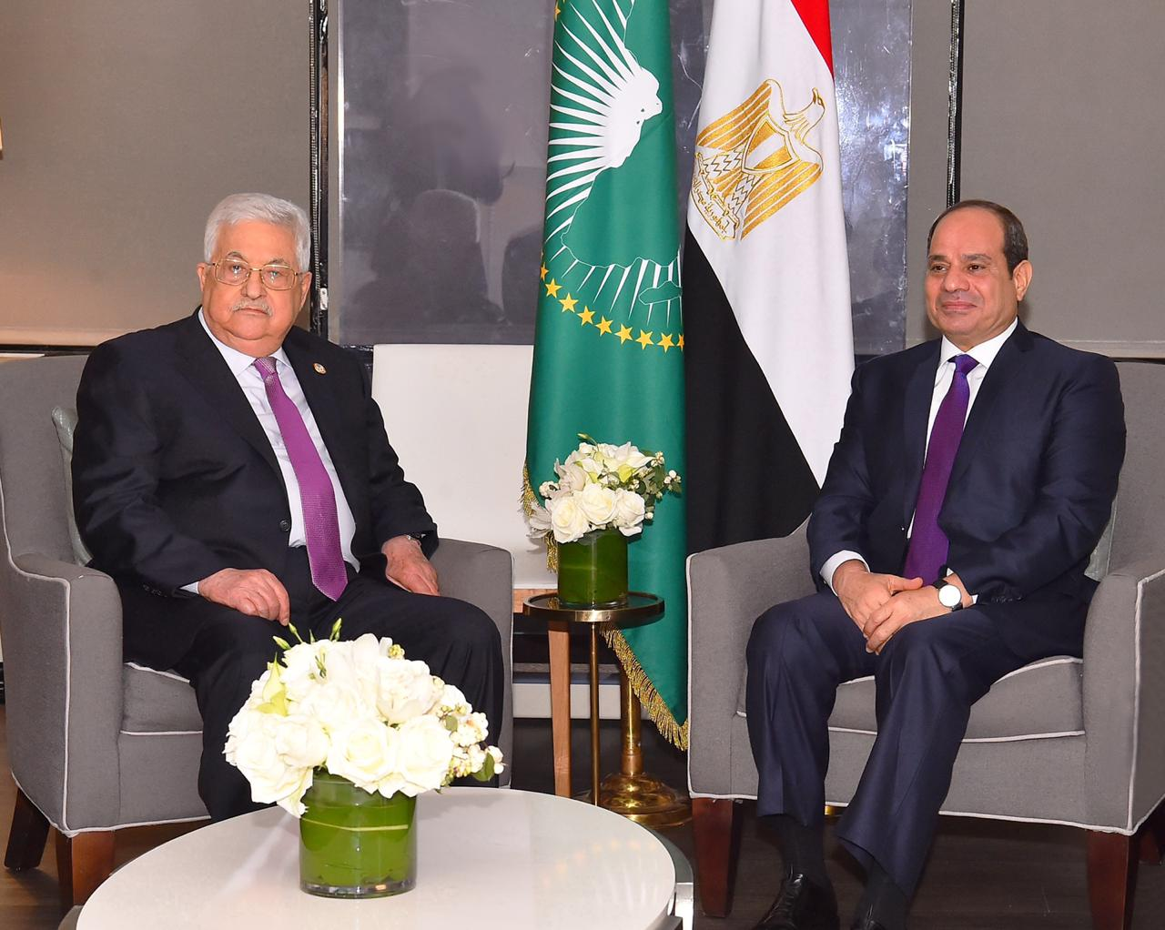 الرئيس السيسي ومحمود عباس