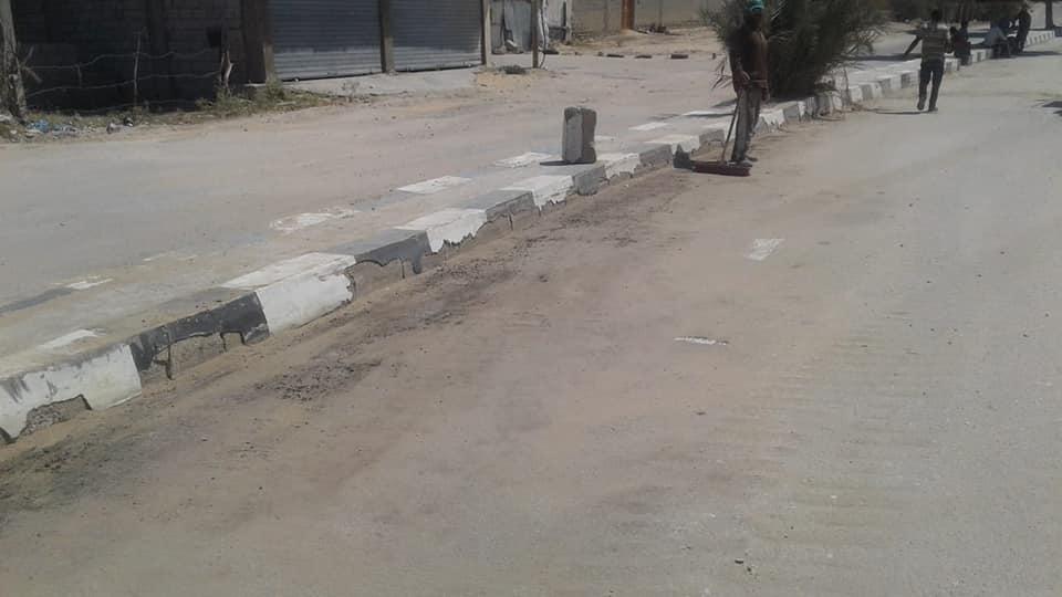 تجميل شوارع الشيخ زويد